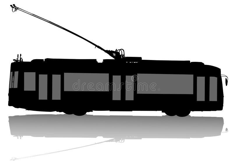 Moderner Oberleitungsbus lizenzfreie abbildung