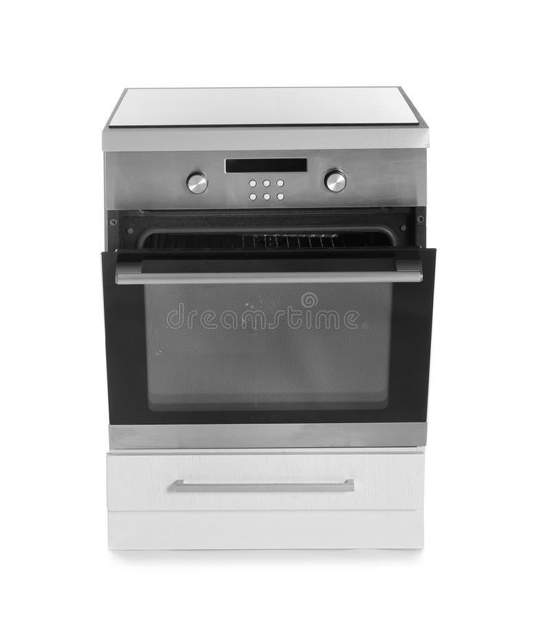 Moderner Ofen lokalisiert auf Weiß lizenzfreie stockfotos