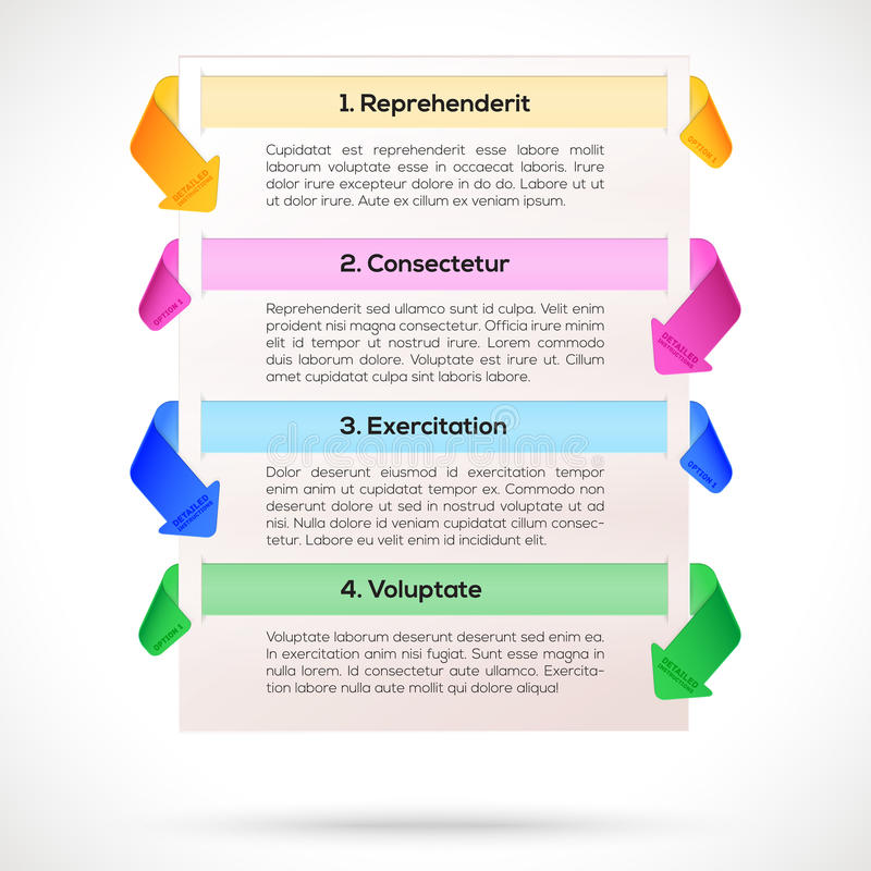 Moderner Plan. Infographic, Darstellungsschablone stock abbildung