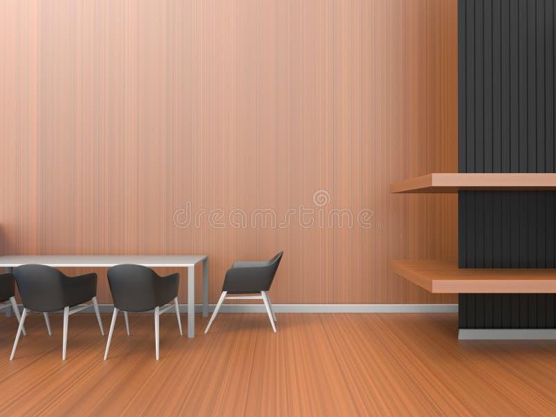 Moderner Raum des Innenministerium Zusammensetzungs-Kunst-/Esszimmer-Zeitgenossen lizenzfreie abbildung