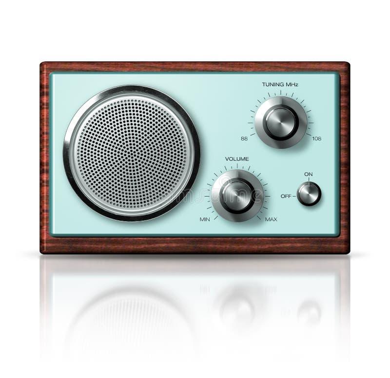 Moderner Retrostil des portablen Radios lizenzfreie stockfotos