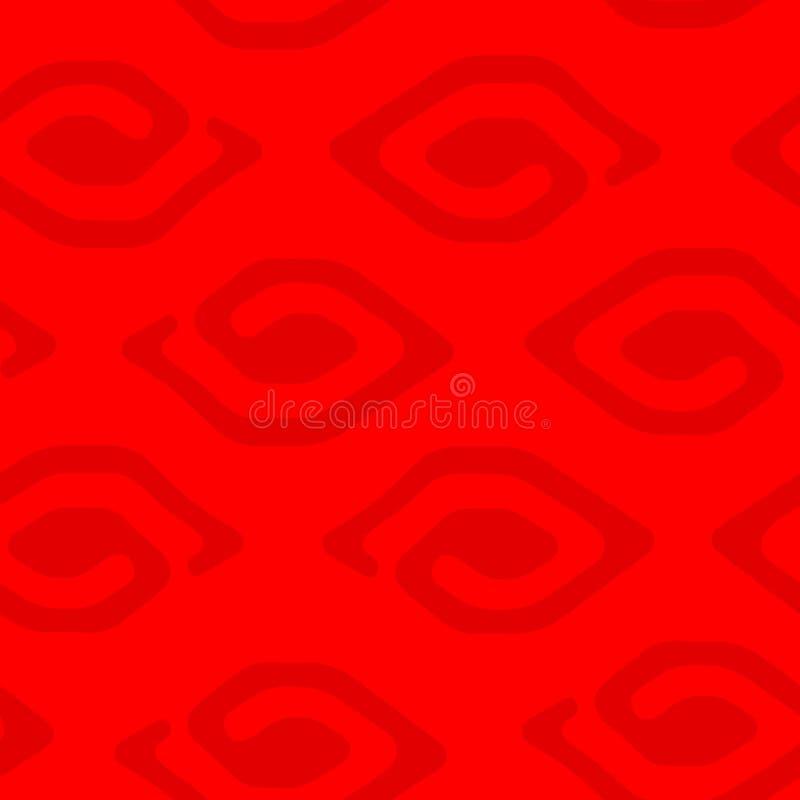 Moderner roter ethnischer nahtloser Mustervektorhintergrund lizenzfreies stockfoto