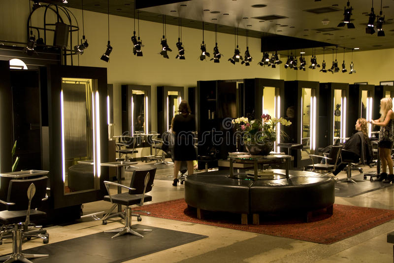 Moderner Salon stockfotos