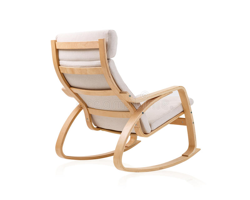 Moderner Schaukelstuhl moderner schaukelstuhl auf der rückseite stockfoto bild