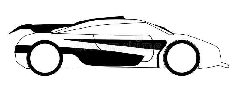 Moderner Schnelles Auto-Entwurf Vektor Abbildung - Illustration von ...