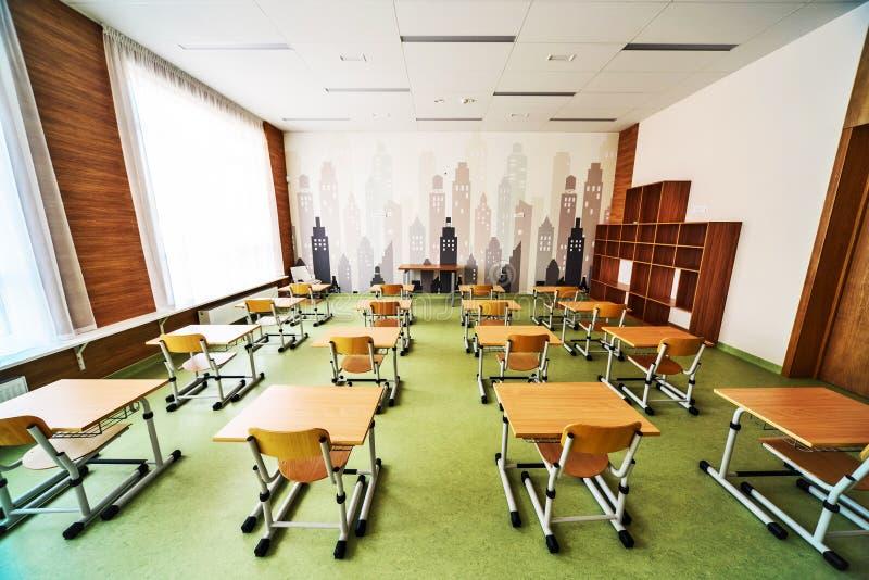 Moderner Schulinnenraum stockbilder