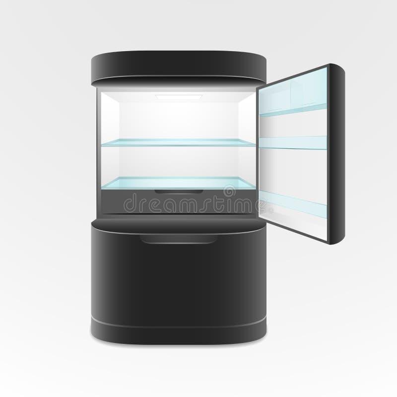 Moderner Schwarzer Kühlschrank Mit Zwei Türen Vektor Abbildung ...