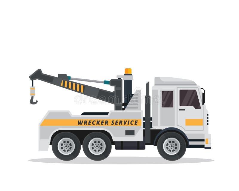 Moderner städtischer Tow Truck Illustration vektor abbildung