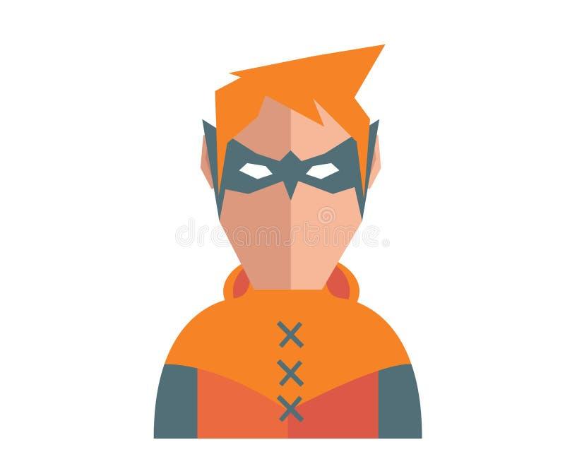 Moderner Superheld-Karnevals-Kostüm-Avatara-Charakter vektor abbildung