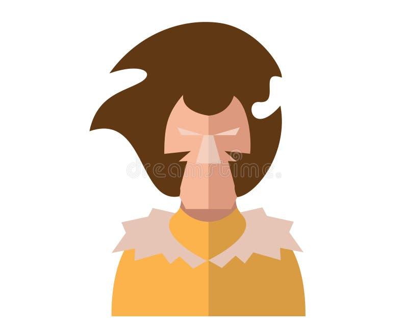 Moderner Superheld-Karnevals-Kostüm-Avatara-Charakter lizenzfreie abbildung