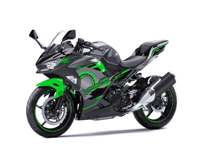 Moderner Supersport fährt die kreative lokalisierte Illustration der einfachen Schablone der Team Moto gp-Geschwindigkeitsrennvek stock abbildung