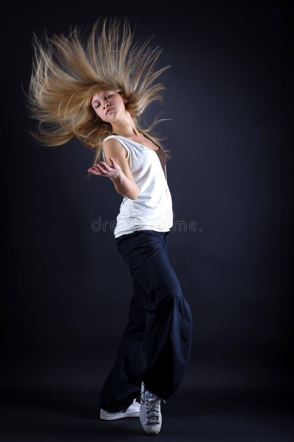 Moderner Tänzer der Frau in der Tätigkeit stockfotografie