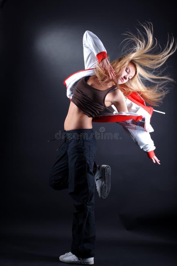 Moderner Tänzer der Frau in der Tätigkeit lizenzfreies stockfoto