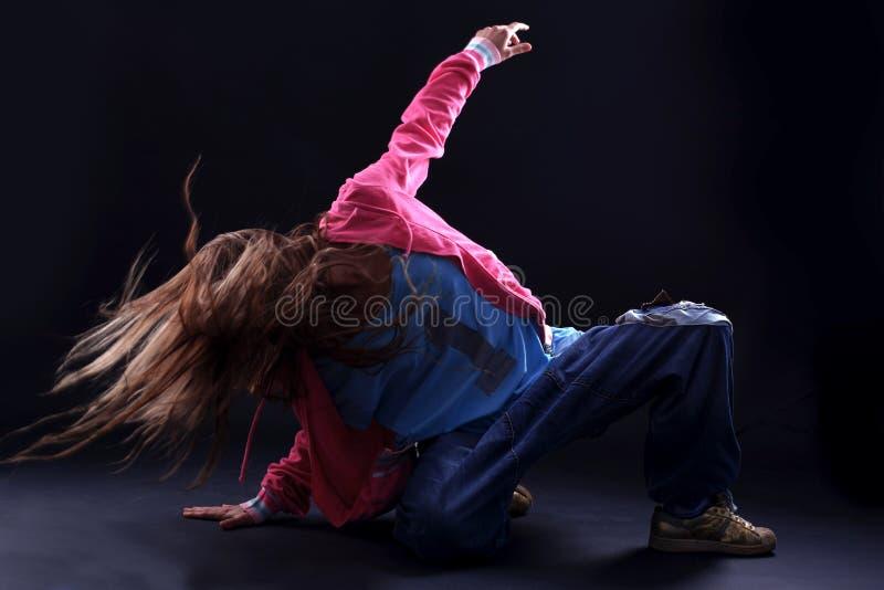 Moderner Tänzer der kühlen Frau lizenzfreies stockfoto