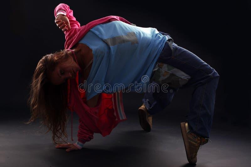 Moderner Tänzer der kühlen Frau stockbild