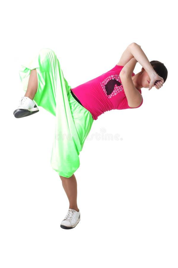 Moderner Tänzer der kühlen Frau stockbilder