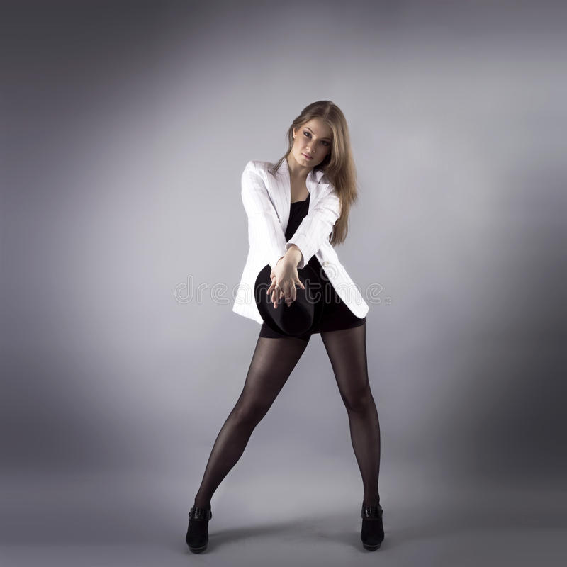 Moderner Tänzer des hübschen Jazz stockfoto