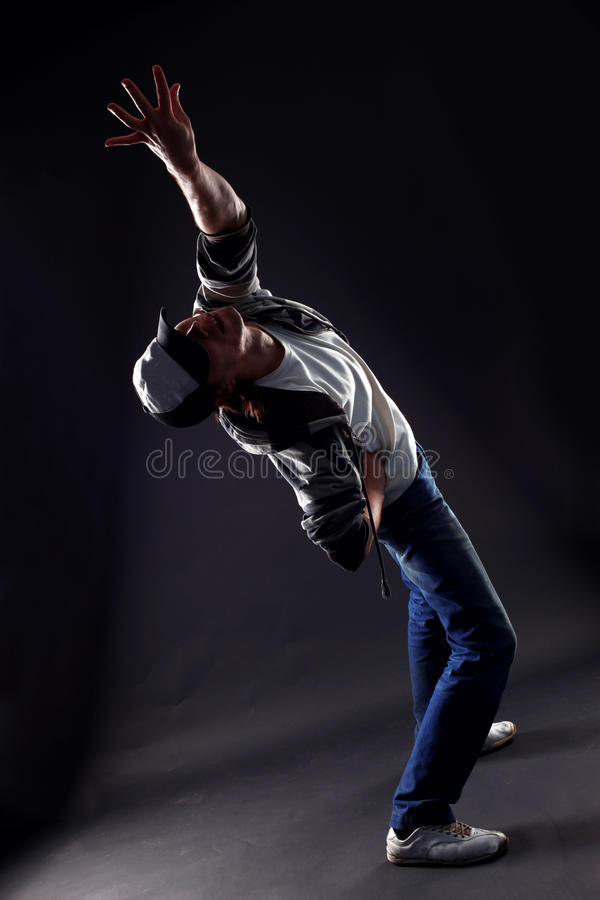 Moderner Tänzer des kühlen Mannes stockfotos