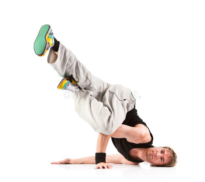 Moderner Tanz des jungen Mannes lizenzfreies stockfoto