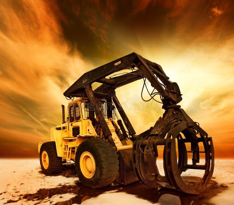 Moderner Traktor lizenzfreies stockbild