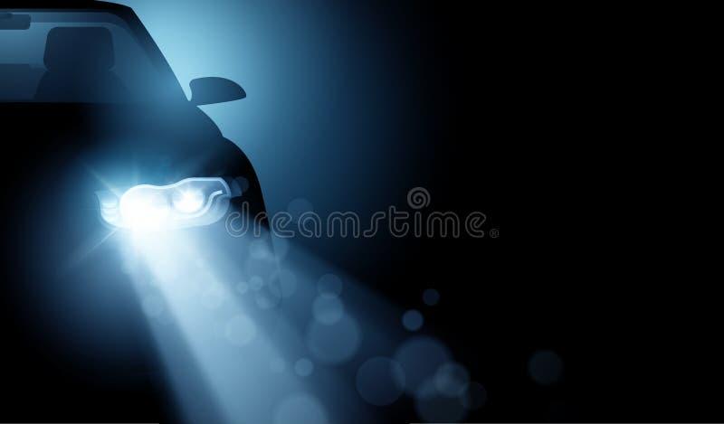 Moderner treibender Scheinwerfer-Hintergrund des Auto-LED vektor abbildung