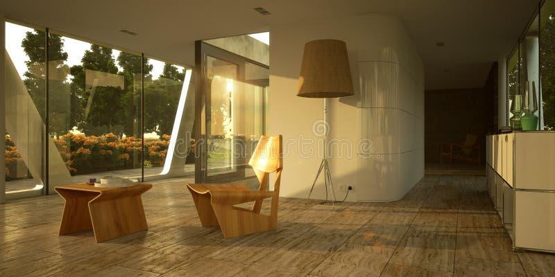 Moderner unbedeutender Innenraum stock abbildung