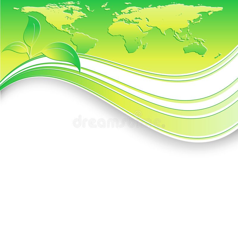 Moderner vektorumweltschablone stock abbildung