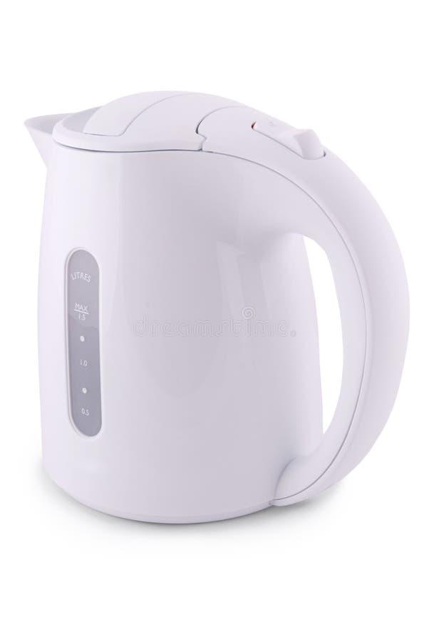 Moderner Wasserkocher (Beschneidungspfad) lizenzfreies stockfoto
