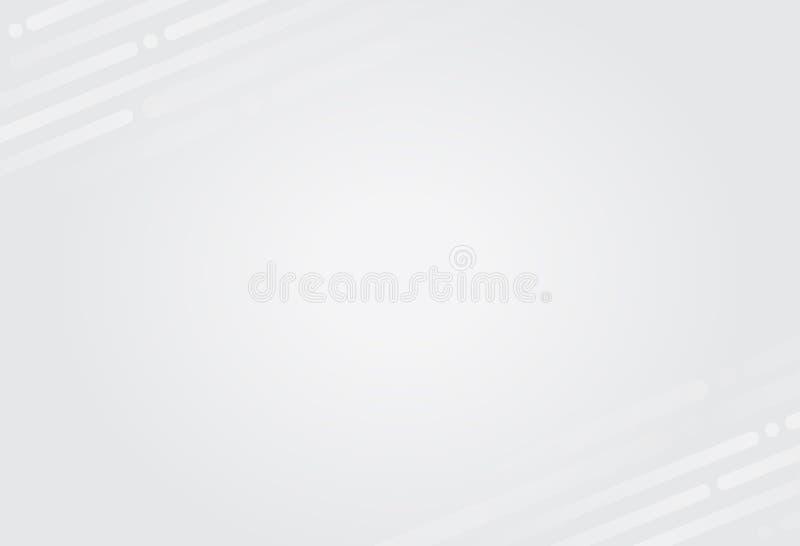 Moderner weißer abstrakter Technologiehintergrund lizenzfreies stockfoto