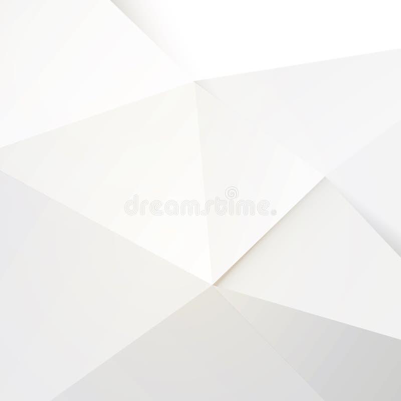 Moderner weißer Polygonhintergrund stock abbildung