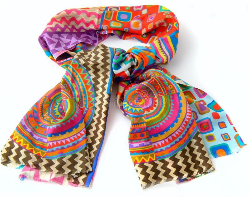 Moderner weiblicher Schal lokalisiert auf Weiß stockfotos