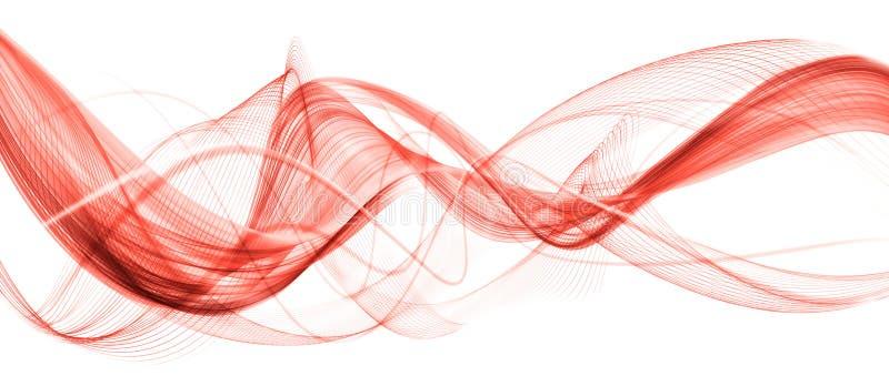 Moderner wellenartig bewegender Geschäftshintergrund der schönen lebenden korallenroten Zusammenfassung stockfoto