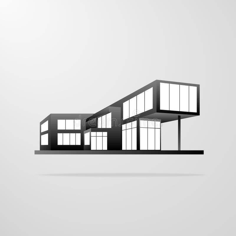 Moderner Wohnungsbau, Immobilienikone stock abbildung