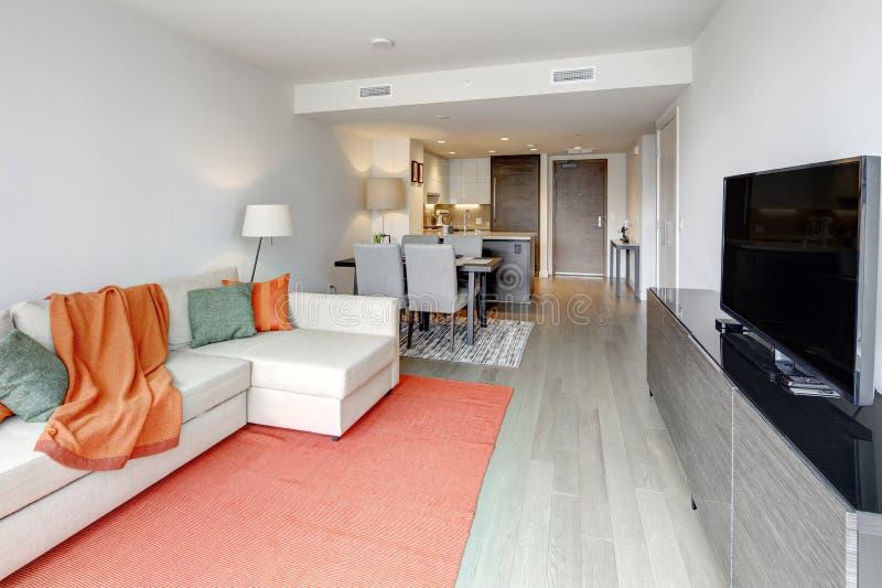 Moderner Wohnungsinnenraum in Seattle, USA lizenzfreie stockfotografie