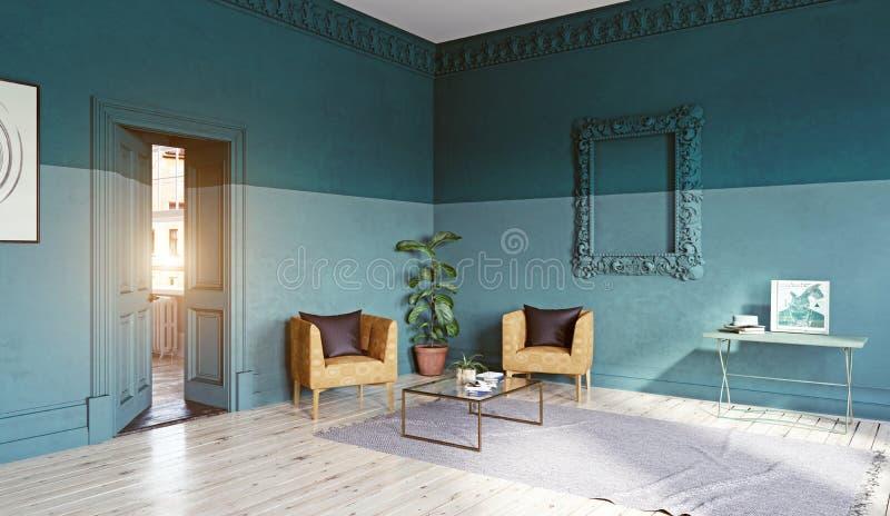 Moderner Wohnzimmer-Innenraum vektor abbildung
