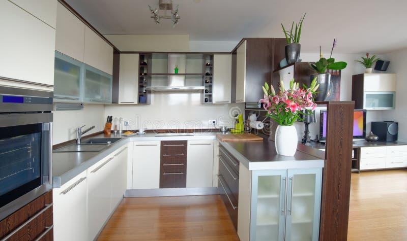 Moderner Wohnzimmerinnenraum lizenzfreies stockbild