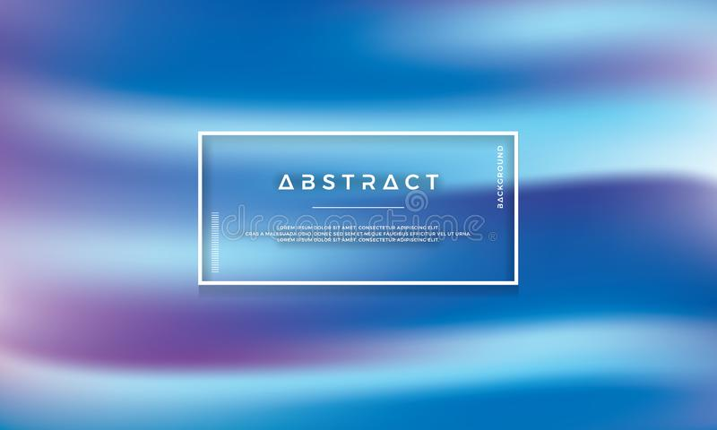 Modernes abstraktes Blau, purpurroter Flussvektorhintergrund, Text und Gestaltungselemente können redigiert werden vektor abbildung
