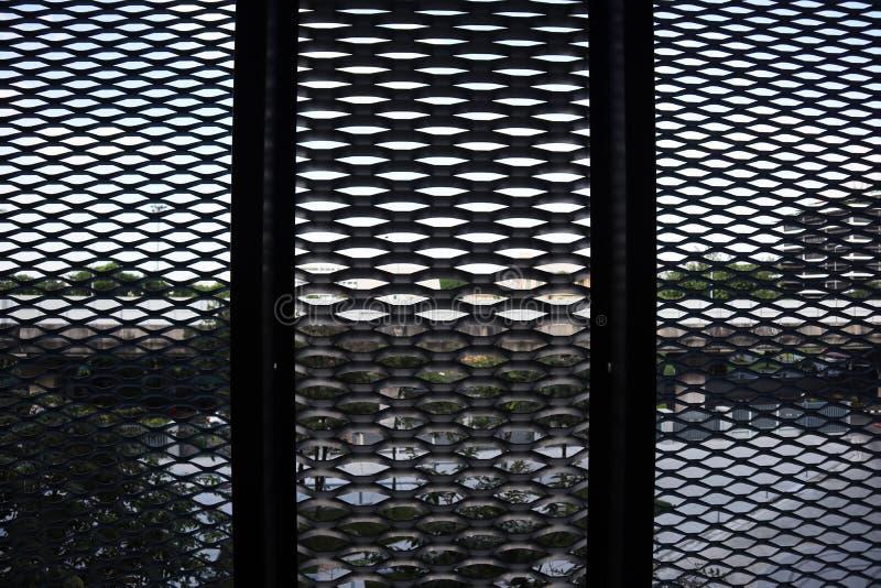 Modernes Aluminium der Fassade, Nahaufnahmefenster, Innenarchitektur - Bild lizenzfreie stockfotos