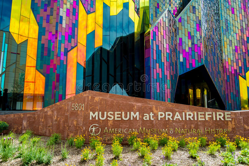 Modernes Architektur-Museum in Kansas City stockbilder