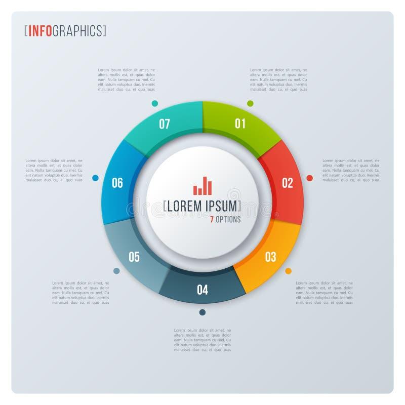 Modernes Artkreis-Donutdiagramm, infographic Design, visualizati lizenzfreie abbildung