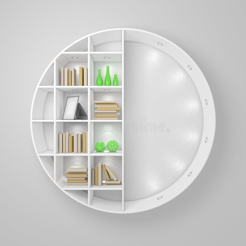 Modernes Bücherregal stock abbildung. Illustration von learn - 57995020