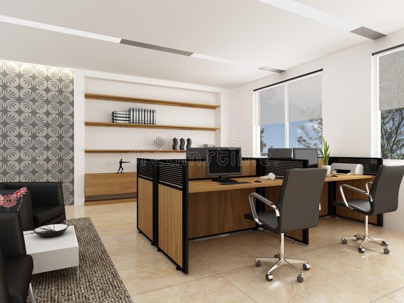 Modernes Büro lizenzfreie abbildung