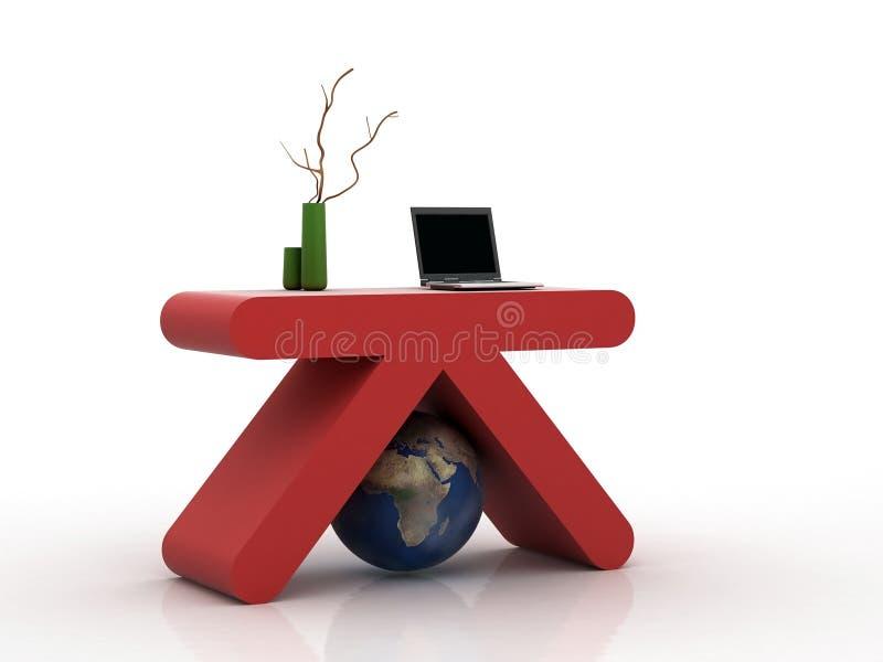 Modernes Büro des Rotes K vektor abbildung