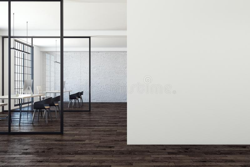 Modernes Büro mit Kopienraum stock abbildung