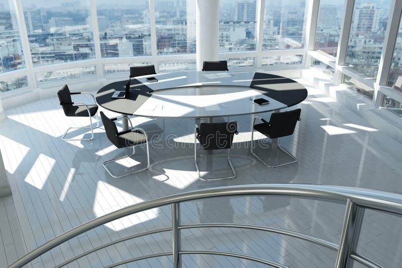 Modernes Büro mit vielen Fenstern vektor abbildung