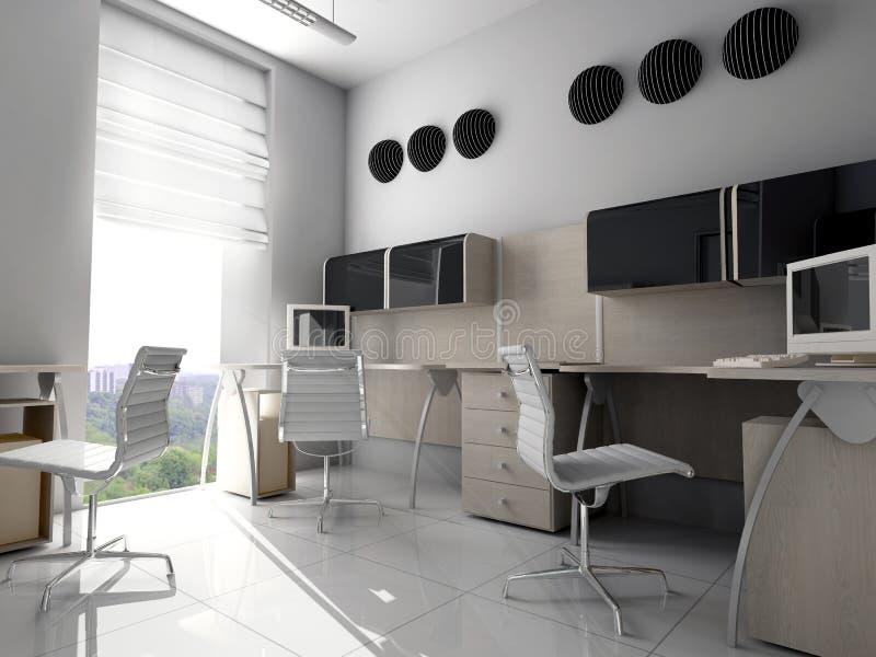 Modernes Büro in Verde vektor abbildung