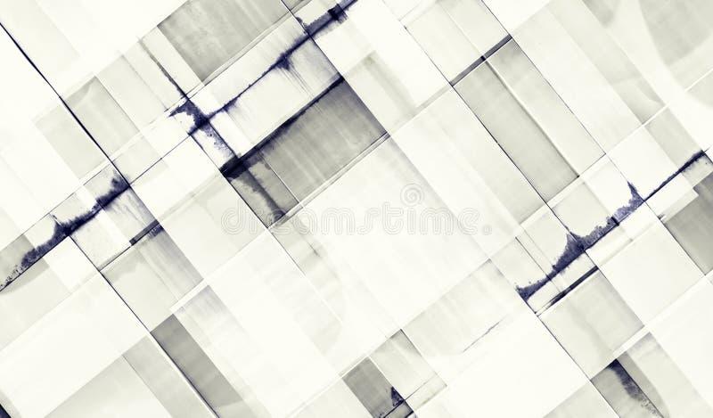 Modernes Bürogebäude mit Fassade des Glases Gebäudezusammenfassung stockbilder