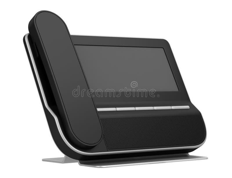 Modernes Bürotelefon getrennt auf Weiß stock abbildung