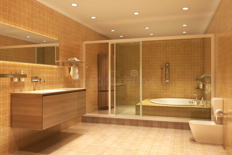 Modernes Badezimmer stock abbildung