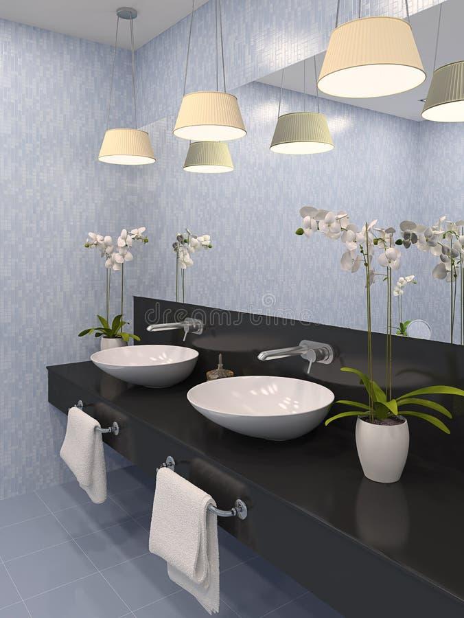 Modernes Badezimmer. stock abbildung